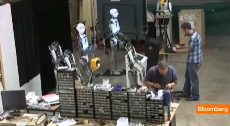 Robot Leg Demo, Engineered Arts, Humanoid Robot