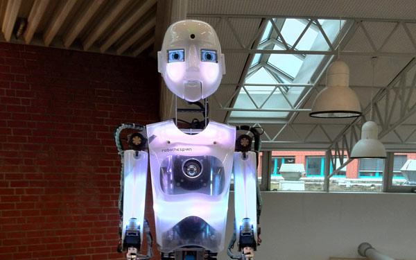 Full Size Female Humanoid Robot RoboThespian Entertainment Robot DASA - Engineered Arts