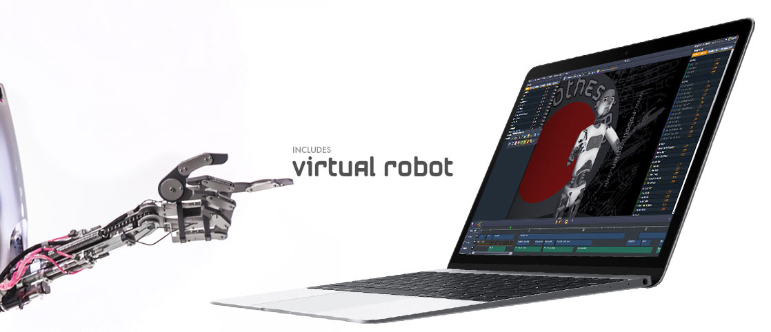 Virtual Robot 3d Animation Robot Software for RoboThespian & Socibot - Engineered Arts