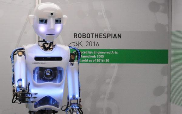 Full Size Humanoid Robot RoboThespian Entertainment Robot London Science Museum - Engineered Arts