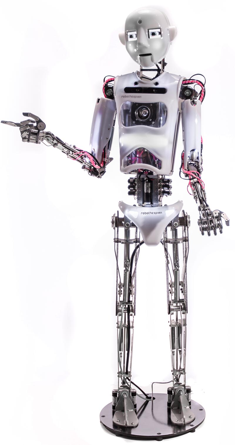 Full Size Humanoid Robot RoboThespian RT4 Entertainment Robot Studio - Engineered Arts