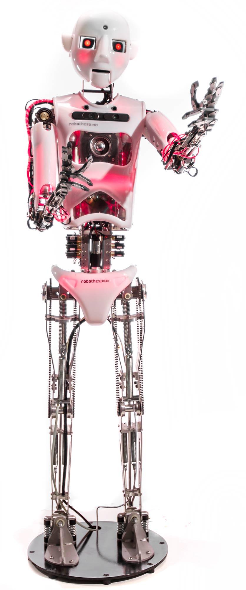 Full Size Humanoid Robot RoboThespian Robot Actor Terminator - Engineered Arts