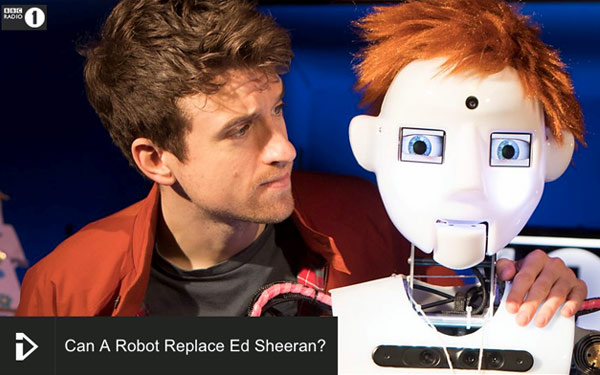 Can Full Size Humanoid Robot RoboThespian Replace Ed Sheeran - Engineered Arts
