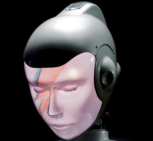 Semi Humanoid Robot SociBot David Bowie Engineered Arts