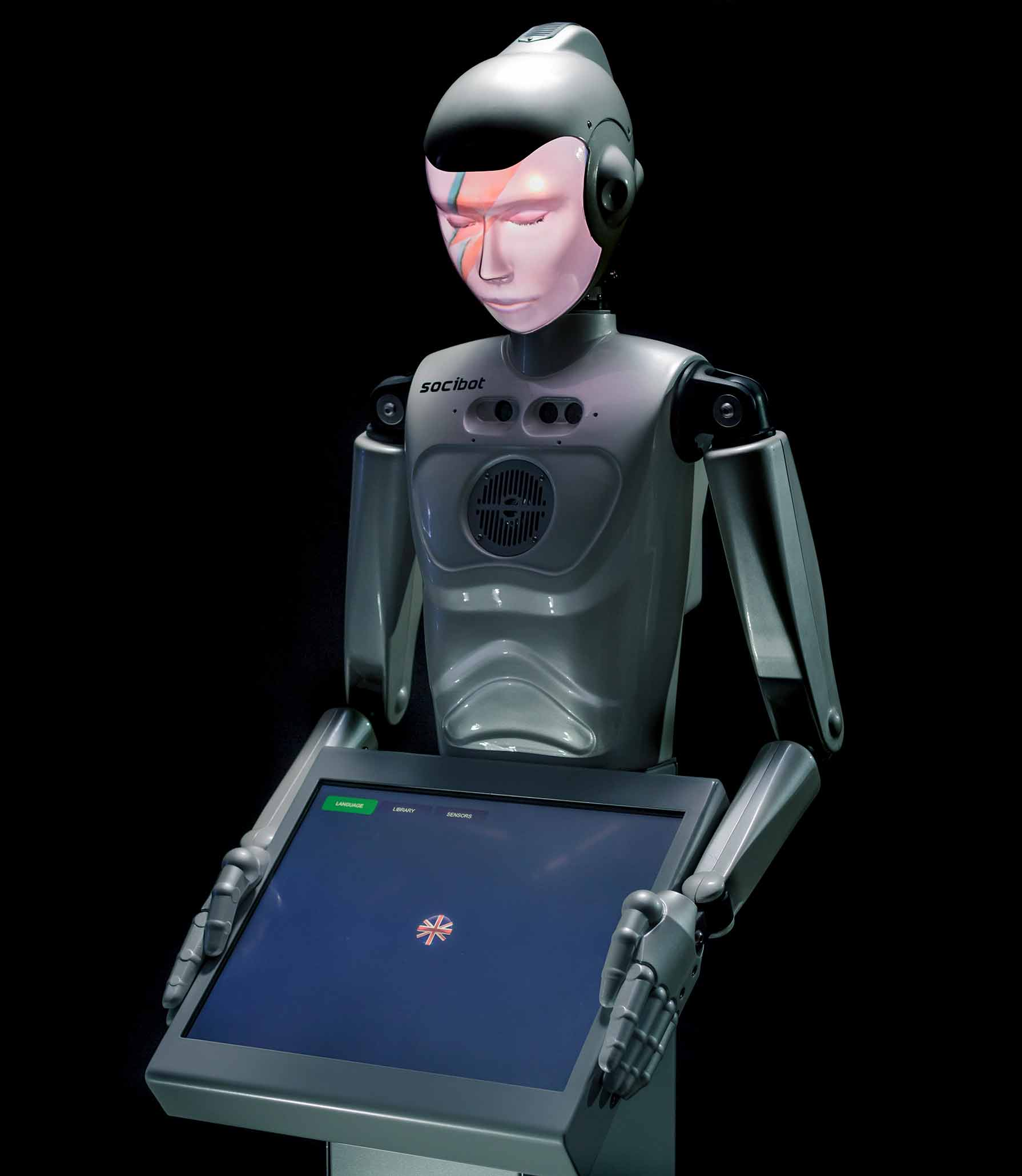 SociBot Kiosk David Bowie Robot Iconic - Engineered Arts