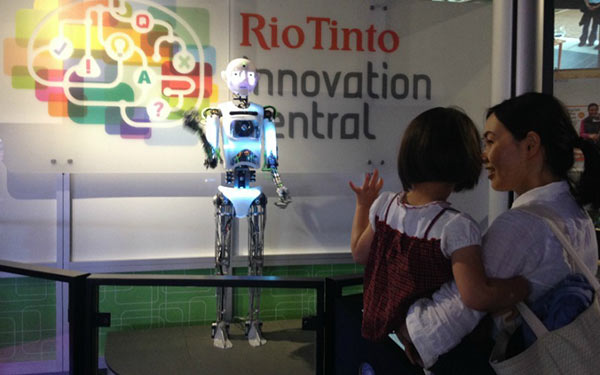 Full Size Humanoid Robot RoboThespian Entertainment Robot SciTech - Engineered Arts