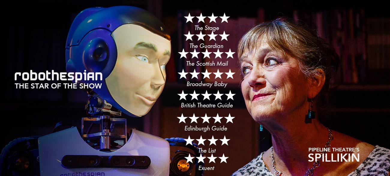 Acting Robot in Play Spillikin RoboThespian