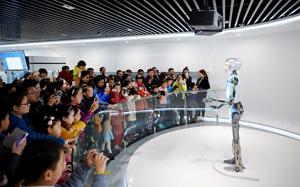 Full Size Humanoid Robot RoboThespian Entertainment Robot Suzhou Museum - Engineered Arts