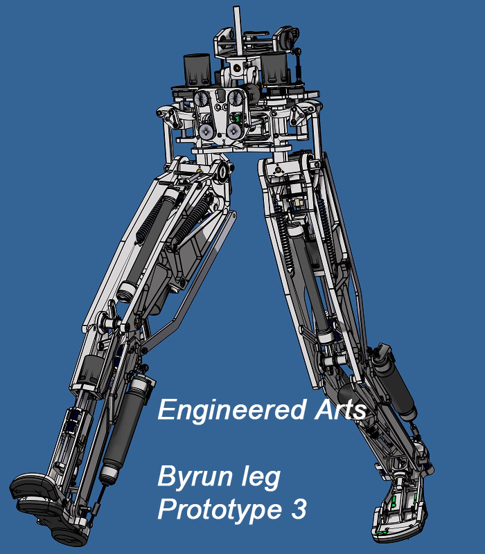 Bryun Walking Robot Bipedal Humanoid Robot - Engineered Arts