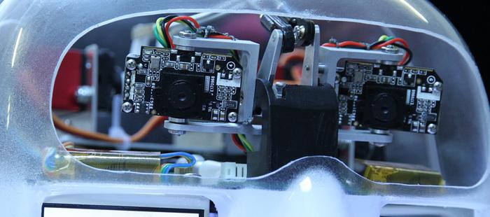 RoboThespian Robot Development Barcelona Stereoscopic Webcams