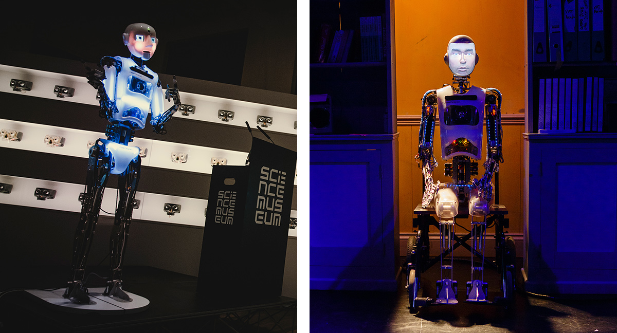 RoboThespian @ London Science Museum and in Spillikin Show - Robot Actor