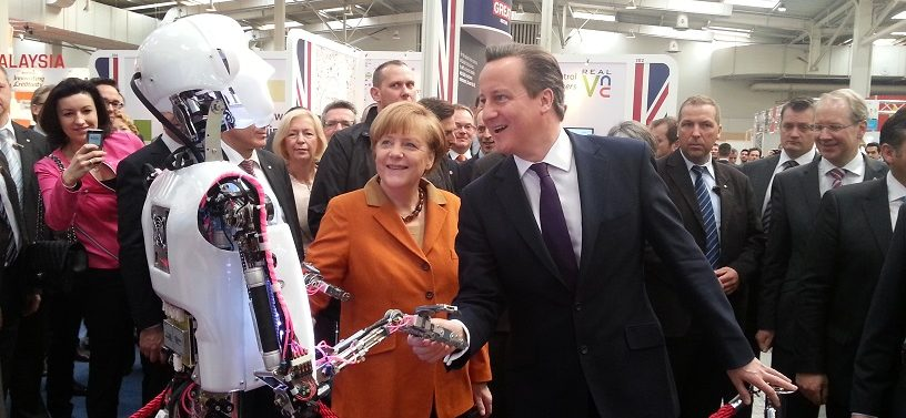 humanoid robot robothespian cameron merkel cebit 2014