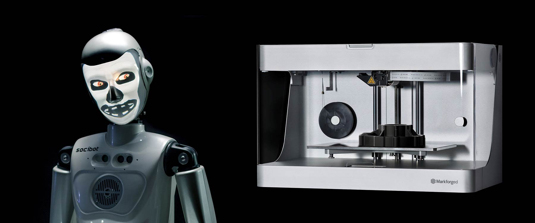 Socibot Robot Markforged 3D Printing - Engineered Arts