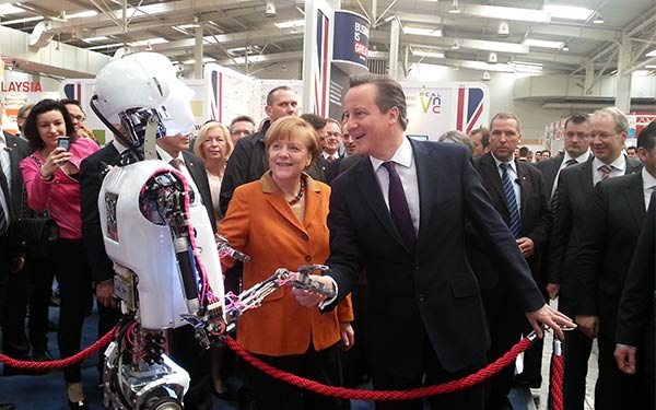 SociBot and RoboThespian at CeBIT 2014