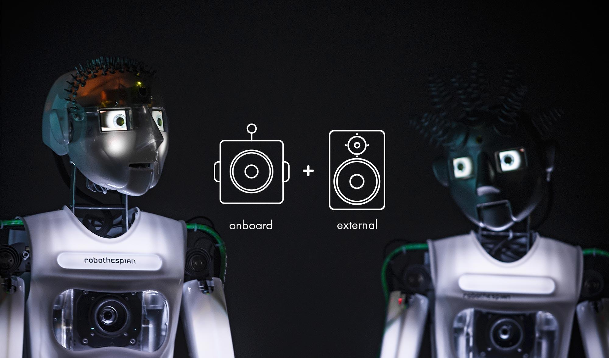 Robotic Theatre, RoboThespian Audio Options